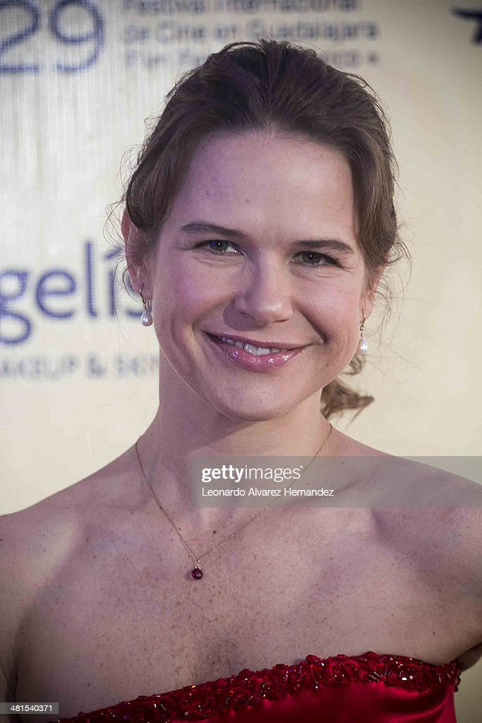 Actress Nailea Norvind poses for a photo during the Guadalajara International Film Festival Closure on March 29, 2014 in Guadalajara, Mexico.