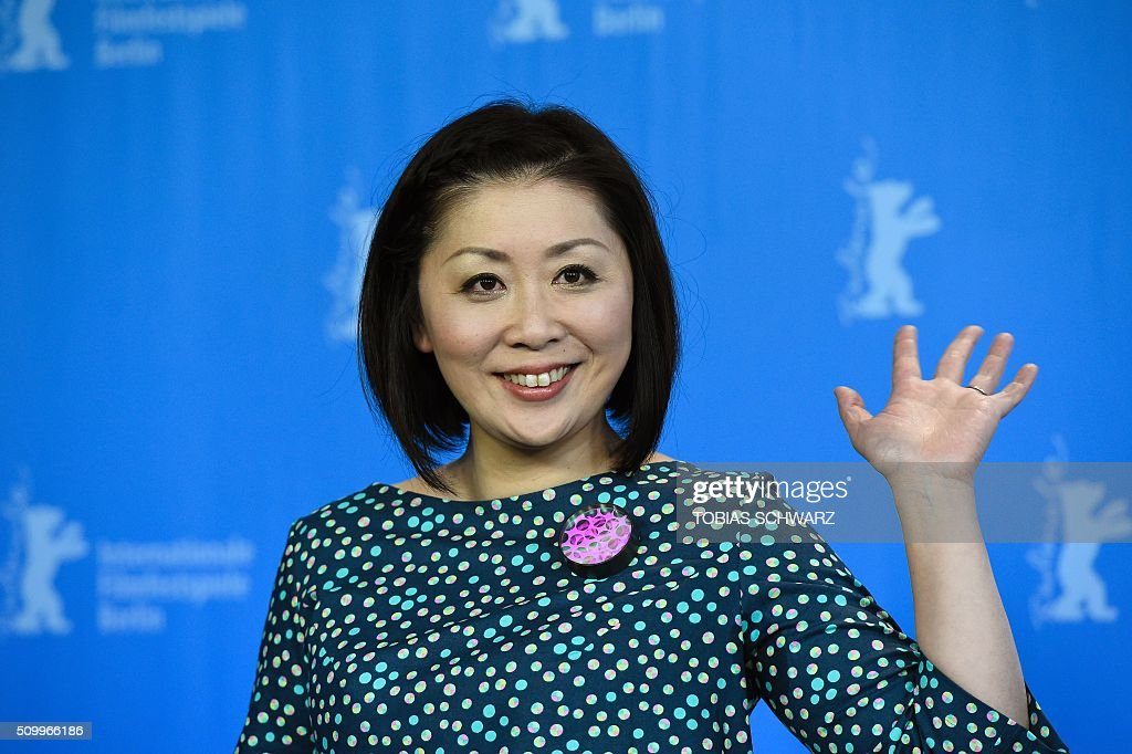 Actress Nami Kamata attends a photo call for the film 'Gruesse aus Fukushima' (Fukushima, Mon Amour) screened at the Panorama section of the 66th Berlinale Film Festival in Berlin on February 13, 2016. / AFP / TOBIAS SCHWARZ
