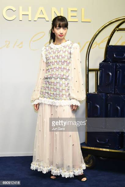 Actress Nana Komatsu attends the CHANEL Metiers D'art Collection Paris Cosmopolite show at the Tsunamachi Mitsui Club on May 31 2017 in Tokyo Japan