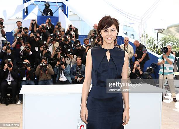 Actress Nanako Matsushima attends the photocall for 'Wara No Tate' at The 66th Annual Cannes Film at Festival Palais des Festivals on May 20 2013 in...