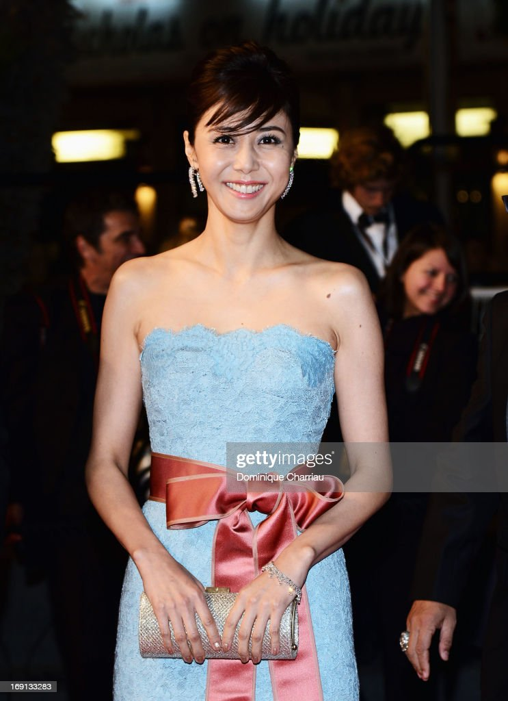 Actress <a gi-track='captionPersonalityLinkClicked' href=/galleries/search?phrase=Nanako+Matsushima&family=editorial&specificpeople=2849177 ng-click='$event.stopPropagation()'>Nanako Matsushima</a> attends the Premiere of 'Wara No Tate' (Shield of Straw) during the 66th Annual Cannes Film Festival at the Palais des Festivals on May 20, 2013 in Cannes, France.