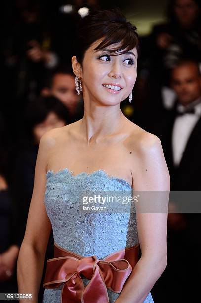 Actress Nanako Matsushima attends the 'Wara No Tate' Premiere during the 66th Annual Cannes Film Festival at the Palais des Festivals on May 20 2013...