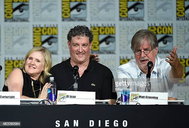 Actress Nancy Cartwright and producer/writers Al Jean and Matt Groening attend 'The Simpsons' panel during ComicCon International 2015 at the San...