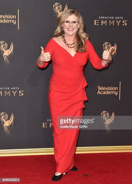 Actress Nancy Cartwright arrives at the 2017 Creative Arts Emmy Awards at Microsoft Theater on September 9 2017 in Los Angeles California