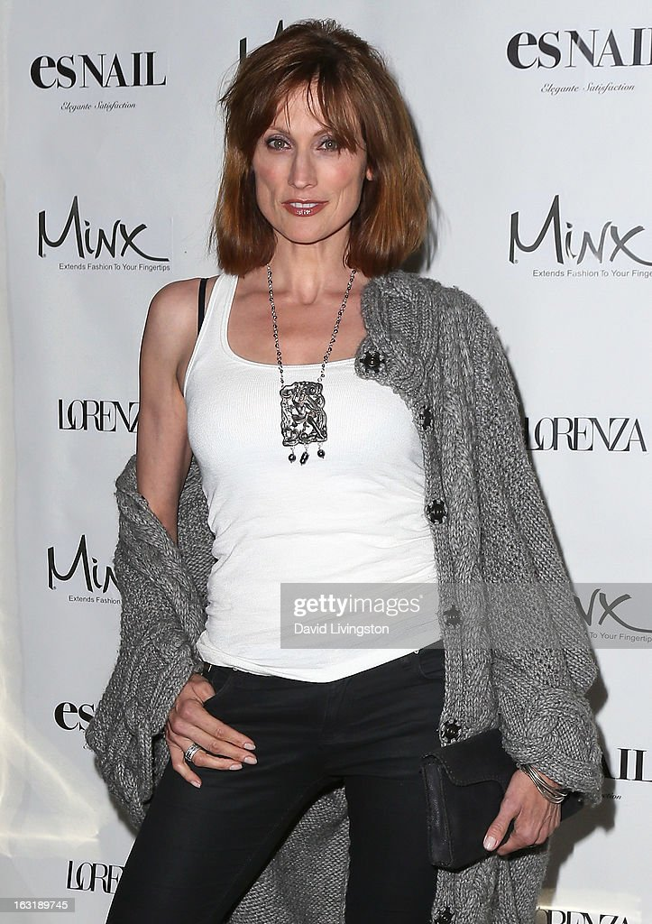 Actress Nancy La Scala attends the launch event for Minx's newest nail line at esNail on March 5, 2013 in Los Angeles, California.