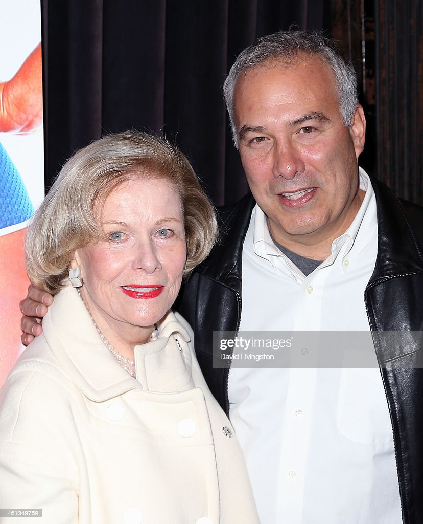Actress Nancy Olson (L) and son director Christopher Livingston attend the premiere of GoDigital's 'Dumbbells' at SupperClub Los Angeles on January 7, 2014 in Los Angeles, California.