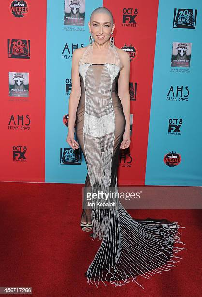 Actress Naomi Grossman arrives at the Los Angeles Premiere 'American Horror Story Freak Show' at TCL Chinese Theatre IMAX on October 5 2014 in...