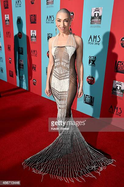 Actress Naomi Grossman attends the premiere screening of FX's 'American Horror Story Freak Show' at TCL Chinese Theatre on October 5 2014 in...