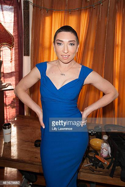 Actress Naomi Grossman behind the scenes at Blaze Modelz Supports The Starving Artists Project Behind The Scenes on January 15 2015 in Los Angeles...