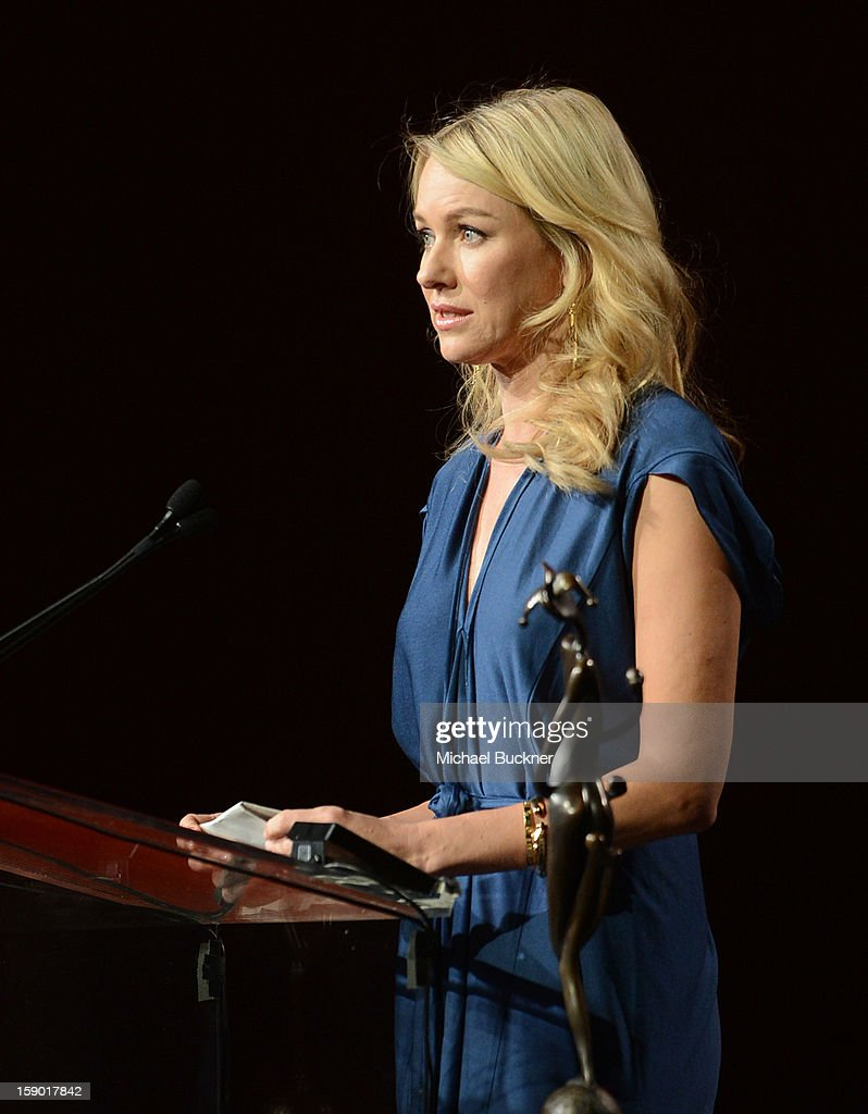Actress <a gi-track='captionPersonalityLinkClicked' href=/galleries/search?phrase=Naomi+Watts&family=editorial&specificpeople=171723 ng-click='$event.stopPropagation()'>Naomi Watts</a> accepts the Desert Palm Achievement Award - Actress onstage during the 24th annual Palm Springs International Film Festival Awards Gala at the Palm Springs Convention Center on January 5, 2013 in Palm Springs, California.