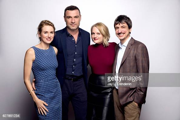 Actress Naomi Watts actor Liev Schreiber actress Elisabeth Moss and director Philippe Falardeau from the film 'The Bleeder' pose for a portrait at...