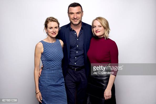 Actress Naomi Watts actor Liev Schreiber andactress Elisabeth Moss from the film 'The Bleeder' pose for a portrait at the Toronto International Film...