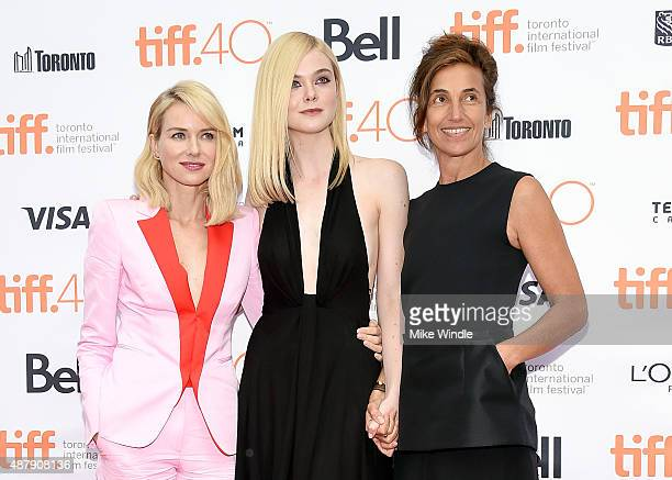 Actress Naomi Watts actress Elle Fanning and director Gaby Della at the premiere of ABOUT RAY in Toronto hosted Audi and Piper Heidsieck with...