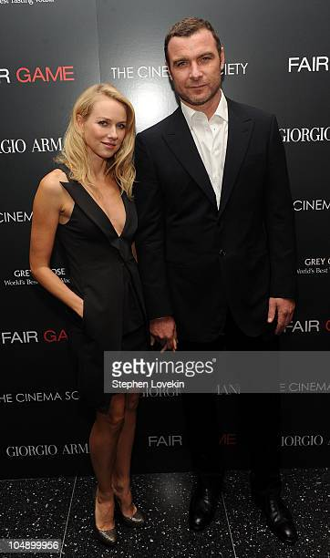 Actress Naomi Watts and actor Liev Schreiber attend the screening of 'Fair Game' hosted by Giorgio Armani The Cinema Society at The Museum of Modern...