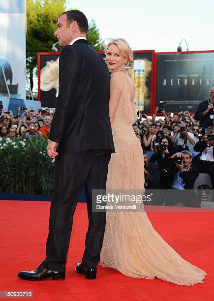 Actress Naomi Watts and actor Liev Schreiber attends The Reluctant Fundamentalist premiere and opening ceremony during the 69th Venice Film Festival...