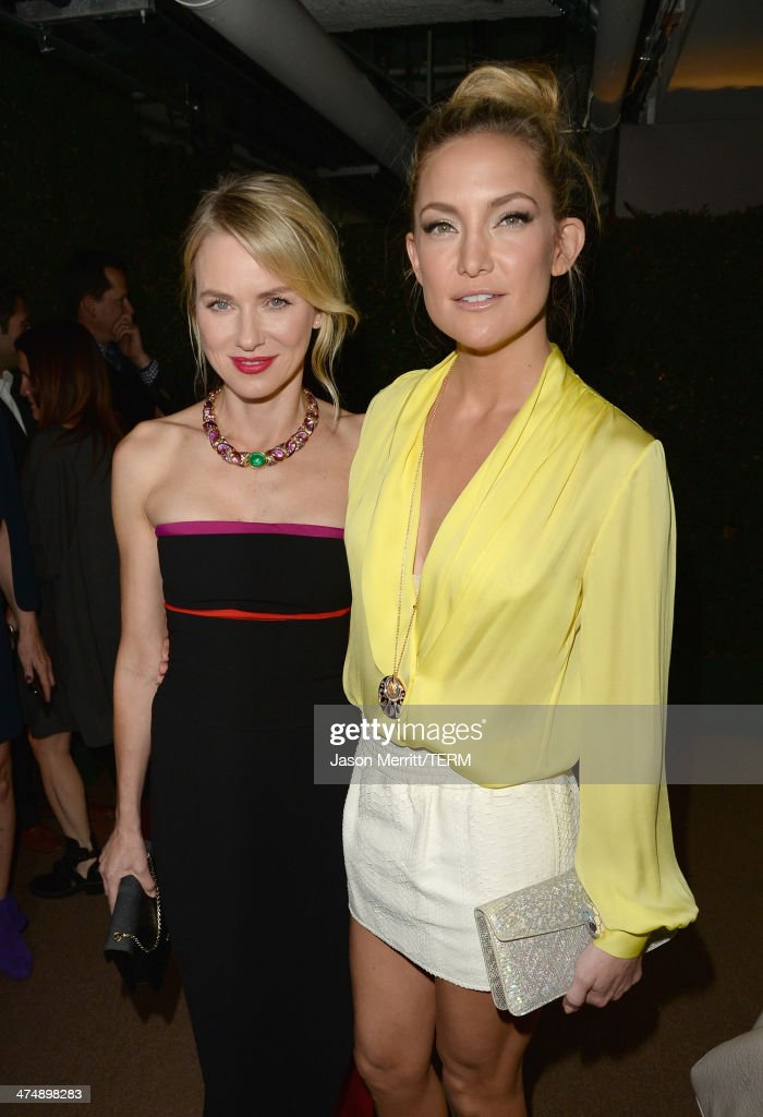 Actress Naomi Watts and actress Kate Hudson attend 'Decades of Glamour' presented by BVLGARI on February 25, 2014 in West Hollywood, California.
