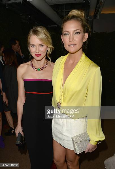 Actress Naomi Watts and actress Kate Hudson attend 'Decades of Glamour' presented by BVLGARI on February 25 2014 in West Hollywood California