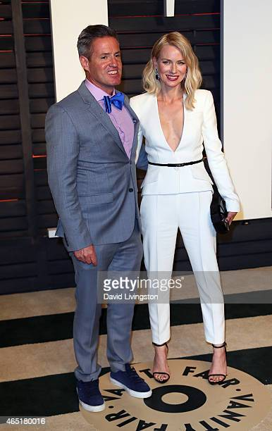 Actress Naomi Watts and brother photographer Ben Watts attend the 2015 Vanity Fair Oscar Party hosted by Graydon Carter at the Wallis Annenberg...