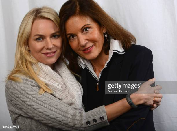 Actress Naomi Watts and her 'Two Mothers' director Anne Fontaine pose for a portrait at the Photo Booth for MSN Wonderwall At ChefDance on January 19...