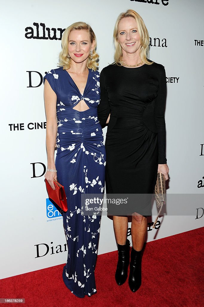 Actress Naomi Watts and journalist Linda Wells attend The Cinema Society with Linda Wells & Allure Magazine premiere of Entertainment One's 'Diana' at SVA Theater on October 30, 2013 in New York City.