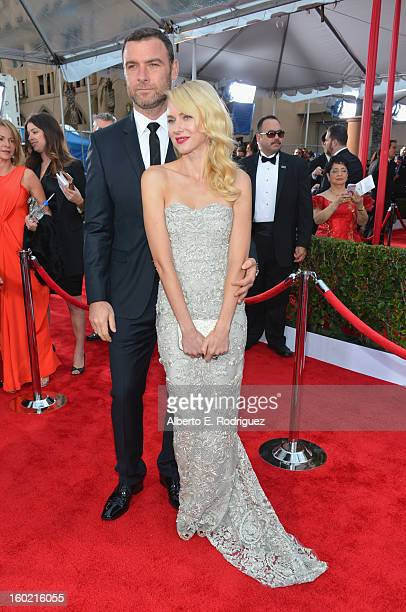 Actress Naomi Watts and Liev Schreiber arrive at the 19th Annual Screen Actors Guild Awards held at The Shrine Auditorium on January 27 2013 in Los...