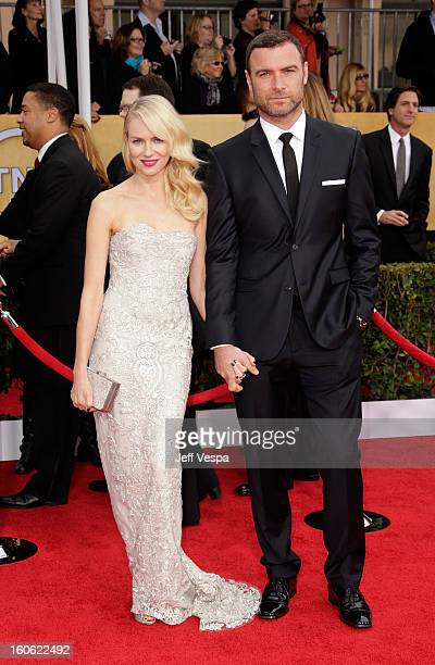 Actress Naomi Watts and Liev Schreiber arrive at the19th Annual Screen Actors Guild Awards held at The Shrine Auditorium on January 27 2013 in Los...