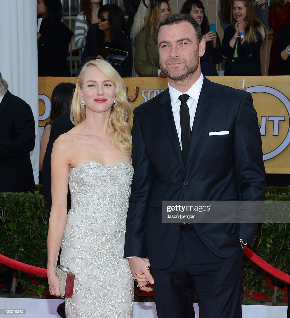 Actress Naomi Watts and Liev Schreiber attend the 19th Annual Screen Actors Guild Awards at The Shrine Auditorium on January 27, 2013 in Los Angeles, California.
