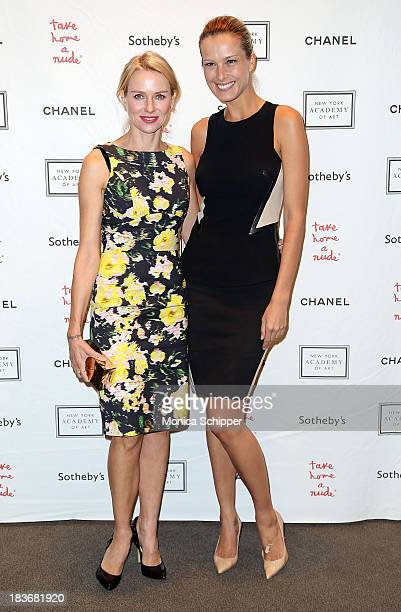 Actress Naomi Watts and Petra Nemcova attend 2013 'Take Home A Nude' Benefit Art Auction And Party at Sotheby's on October 8 2013 in New York City