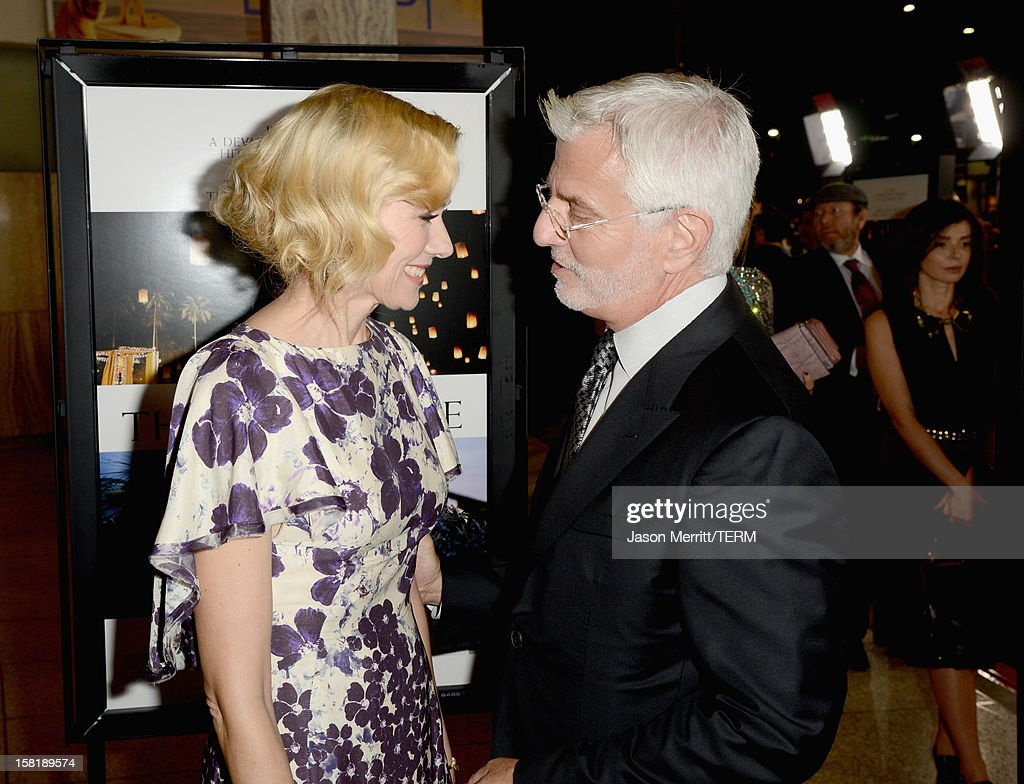 Actress <a gi-track='captionPersonalityLinkClicked' href=/galleries/search?phrase=Naomi+Watts&family=editorial&specificpeople=171723 ng-click='$event.stopPropagation()'>Naomi Watts</a> (L) and Robert Friedman, Co-Chairman, Lionsgate Motion Picture Group attend the Los Angeles premiere of Summit Entertainment's 'The Impossible' at ArcLight Cinemas Cinerama Dome on December 10, 2012 in Hollywood, California.