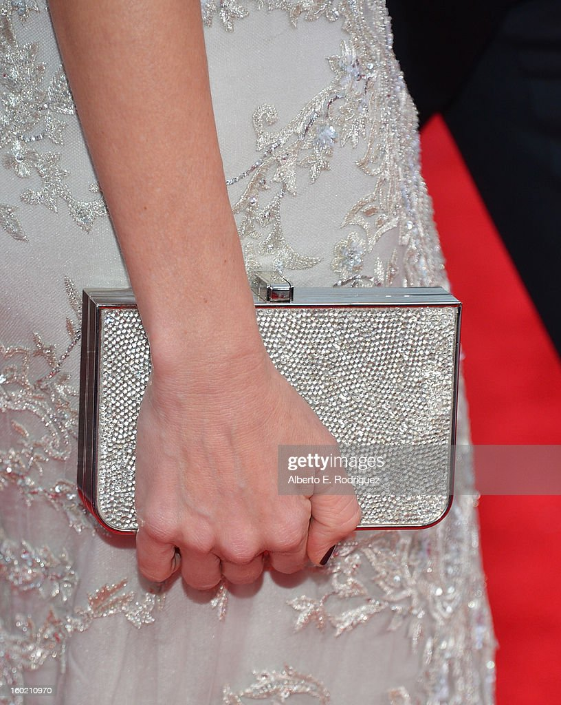Actress Naomi Watts (handbag detail) arrives at the 19th Annual Screen Actors Guild Awards held at The Shrine Auditorium on January 27, 2013 in Los Angeles, California.