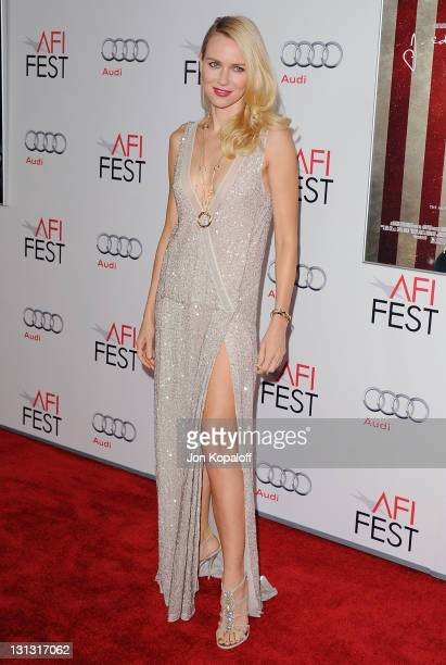 Actress Naomi Watts arrives at the 2011 AFI FEST Opening Night Gala 'J Edgar' Premiere at Grauman's Chinese Theatre on November 3 2011 in Hollywood...
