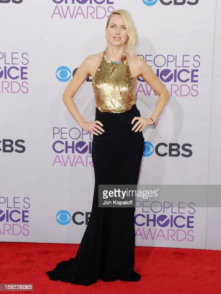 Actress Naomi Watts arrives at the 2013 People's Choice Awards at Nokia Theatre LA Live on January 9 2013 in Los Angeles California