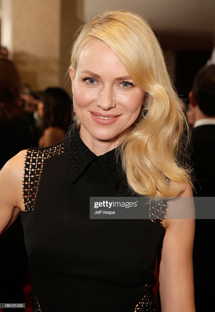 Actress <a gi-track='captionPersonalityLinkClicked' href=/galleries/search?phrase=Naomi+Watts&family=editorial&specificpeople=171723 ng-click='$event.stopPropagation()'>Naomi Watts</a> arrives at the 24th Annual Producers Guild Awards held at The Beverly Hilton Hotel on January 26, 2013 in Beverly Hills, California.