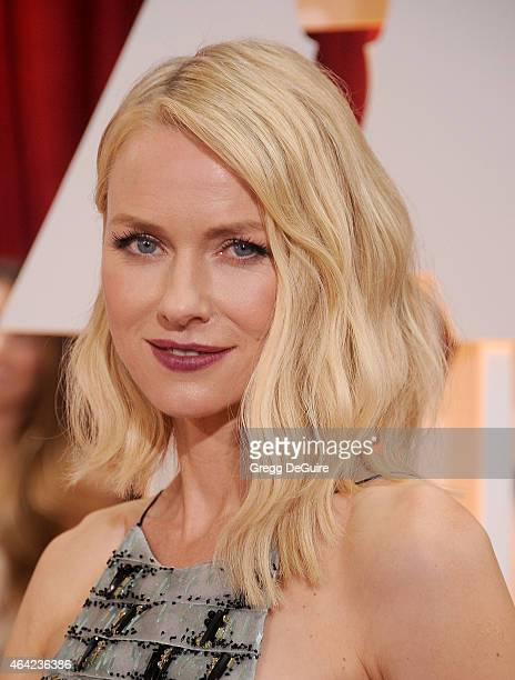 Actress Naomi Watts arrives at the 87th Annual Academy Awards at Hollywood Highland Center on February 22 2015 in Hollywood California