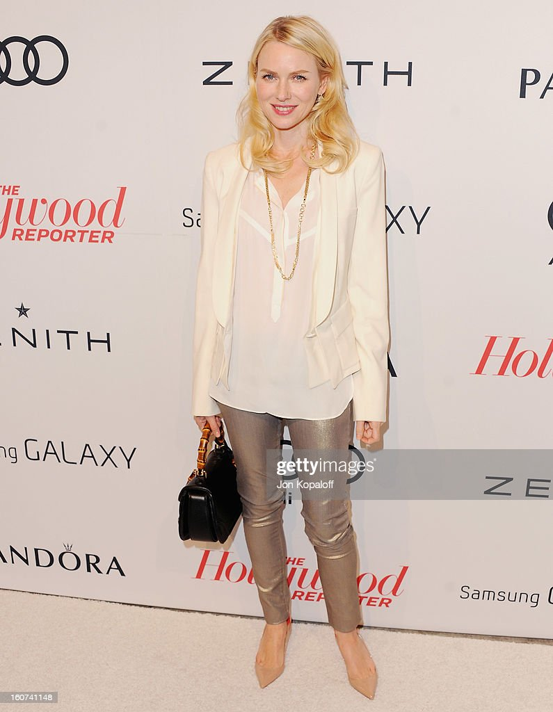 Actress <a gi-track='captionPersonalityLinkClicked' href=/galleries/search?phrase=Naomi+Watts&family=editorial&specificpeople=171723 ng-click='$event.stopPropagation()'>Naomi Watts</a> arrives at The Hollywood Reporter Nominees' Night 2013 Celebrating 85th Annual Academy Award Nominees at Spago on February 4, 2013 in Beverly Hills, California.