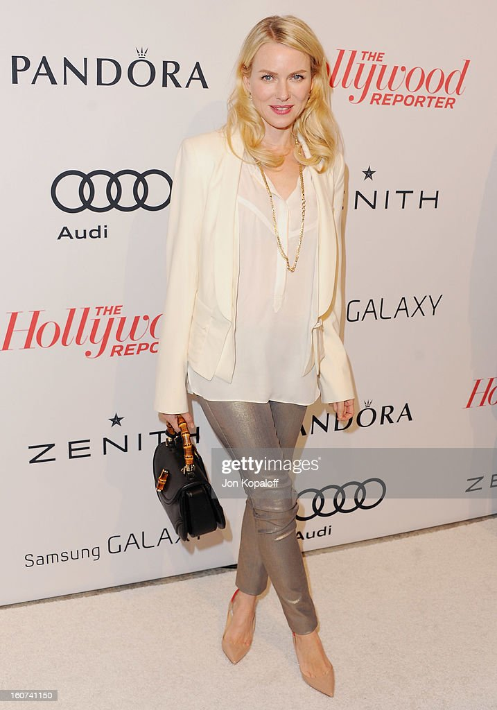 Actress Naomi Watts arrives at The Hollywood Reporter Nominees' Night 2013 Celebrating 85th Annual Academy Award Nominees at Spago on February 4 2013...