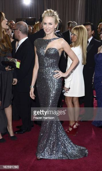 Actress Naomi Watts arrives at the Oscars at Hollywood Highland Center on February 24 2013 in Hollywood California