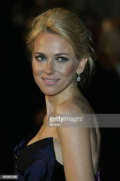 Actress Naomi Watts arrives at the UK Premiere of 'King Kong' at the Odeon Leicester Square on December 8 2005 in London England