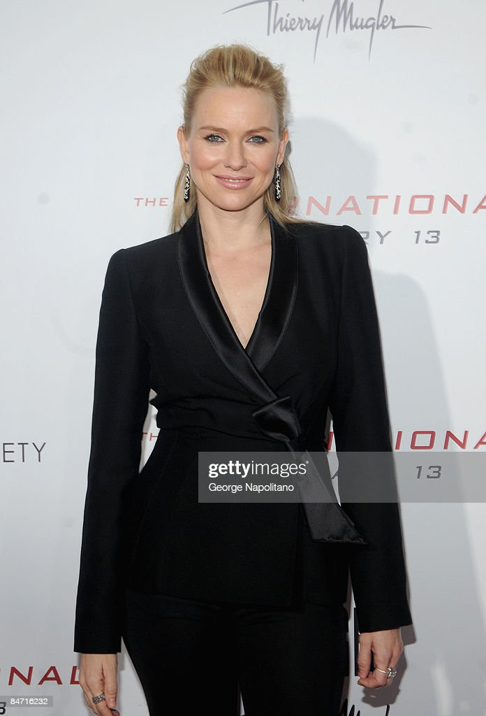 Actress Naomi Watts attend the Cinema Society and Angel by Thierry Mugler screening of 'The International' at AMC Lincoln Square on February 9 2009...