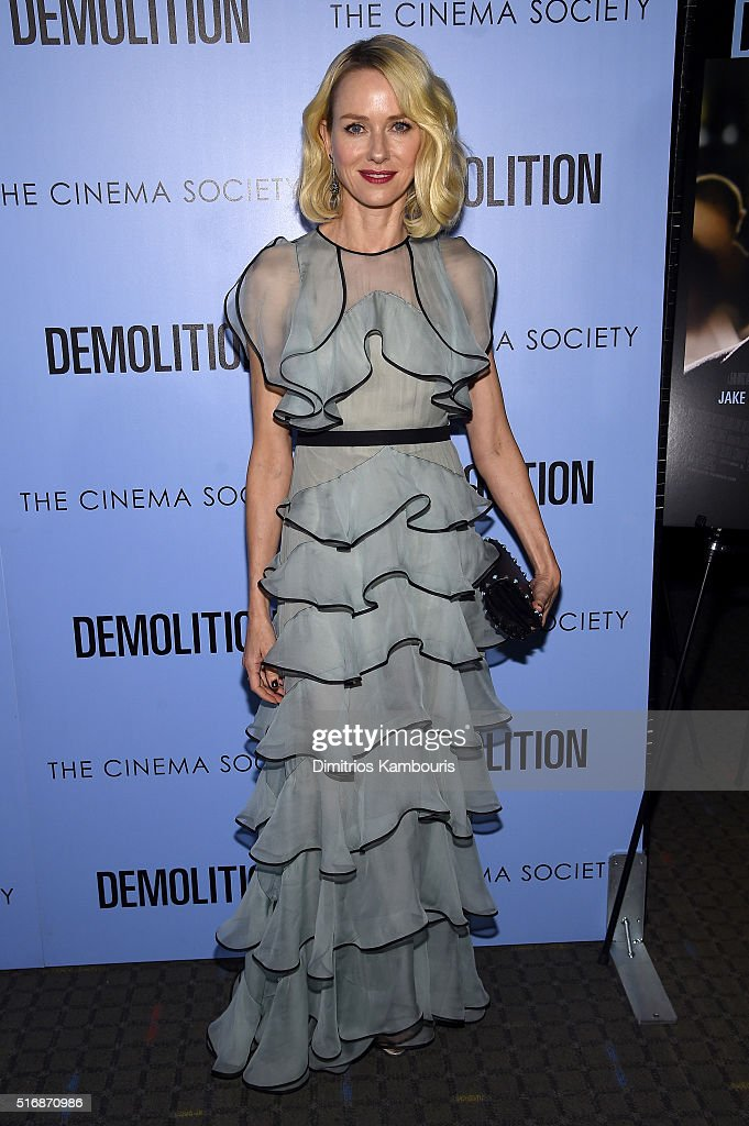 Actress Naomi Watts attends a screening of 'Demolition' hosted by Fox Searchlight Pictures with the Cinema Society at the SVA Theater on March 21, 2016 in New York City.
