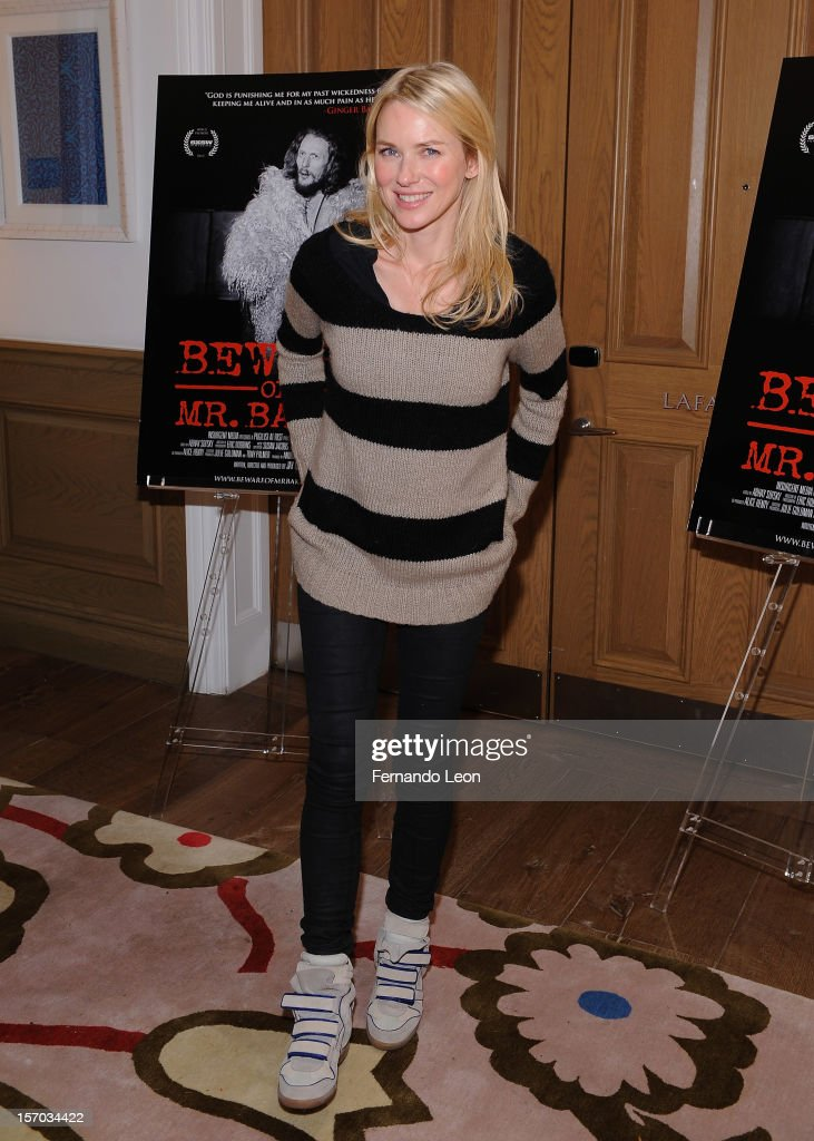 Actress Naomi Watts attends 'Beware Of Mr Baker' New York Screening at Crosby Street Hotel on November 27 2012 in New York City