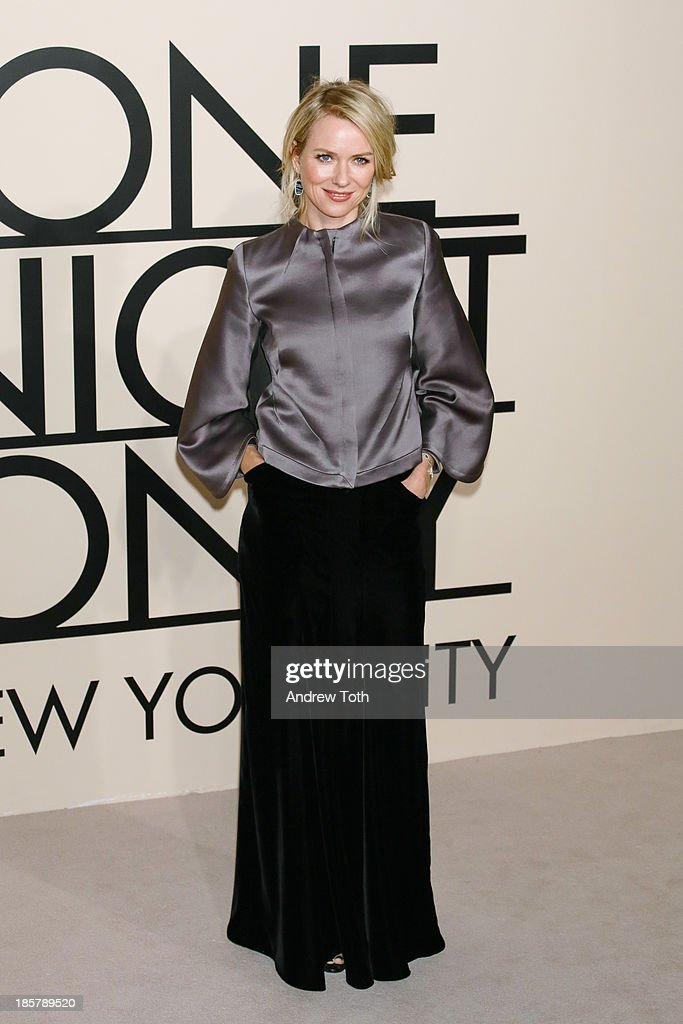 Actress <a gi-track='captionPersonalityLinkClicked' href=/galleries/search?phrase=Naomi+Watts&family=editorial&specificpeople=171723 ng-click='$event.stopPropagation()'>Naomi Watts</a> attends Giorgio Armani - One Night Only New York at SuperPier on October 24, 2013 in New York City.