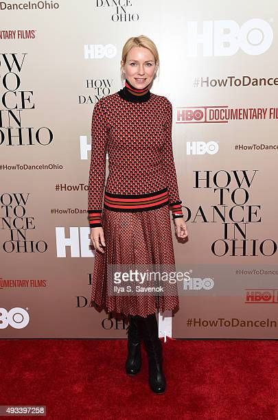 Actress Naomi Watts attends 'How To Dance In Ohio' premiere at Time Warner Center on October 19 2015 in New York City