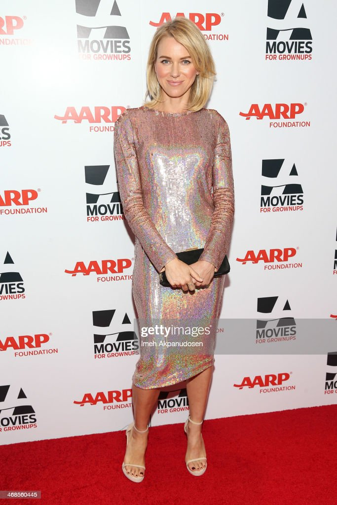 Actress <a gi-track='captionPersonalityLinkClicked' href=/galleries/search?phrase=Naomi+Watts&family=editorial&specificpeople=171723 ng-click='$event.stopPropagation()'>Naomi Watts</a> attends the 13th Annual AARP's Movies For Grownups Awards Gala at Regent Beverly Wilshire Hotel on February 10, 2014 in Beverly Hills, California.