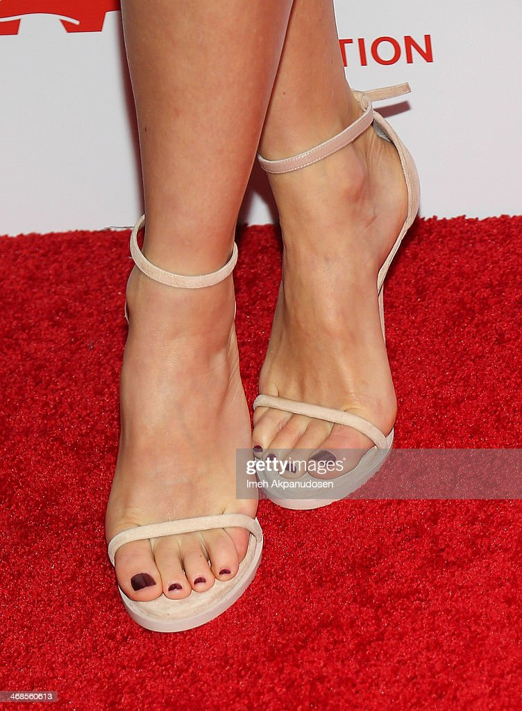 Actress Naomi Watts (shoe detail) attends the 13th Annual AARP's Movies For Grownups Awards Gala at Regent Beverly Wilshire Hotel on February 10, 2014 in Beverly Hills, California.
