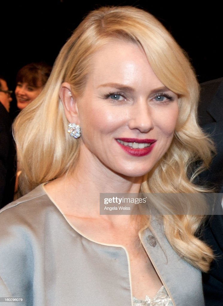 Actress <a gi-track='captionPersonalityLinkClicked' href=/galleries/search?phrase=Naomi+Watts&family=editorial&specificpeople=171723 ng-click='$event.stopPropagation()'>Naomi Watts</a> attends the 19th Annual Screen Actors Guild Awards at The Shrine Auditorium on January 27, 2013 in Los Angeles, California.