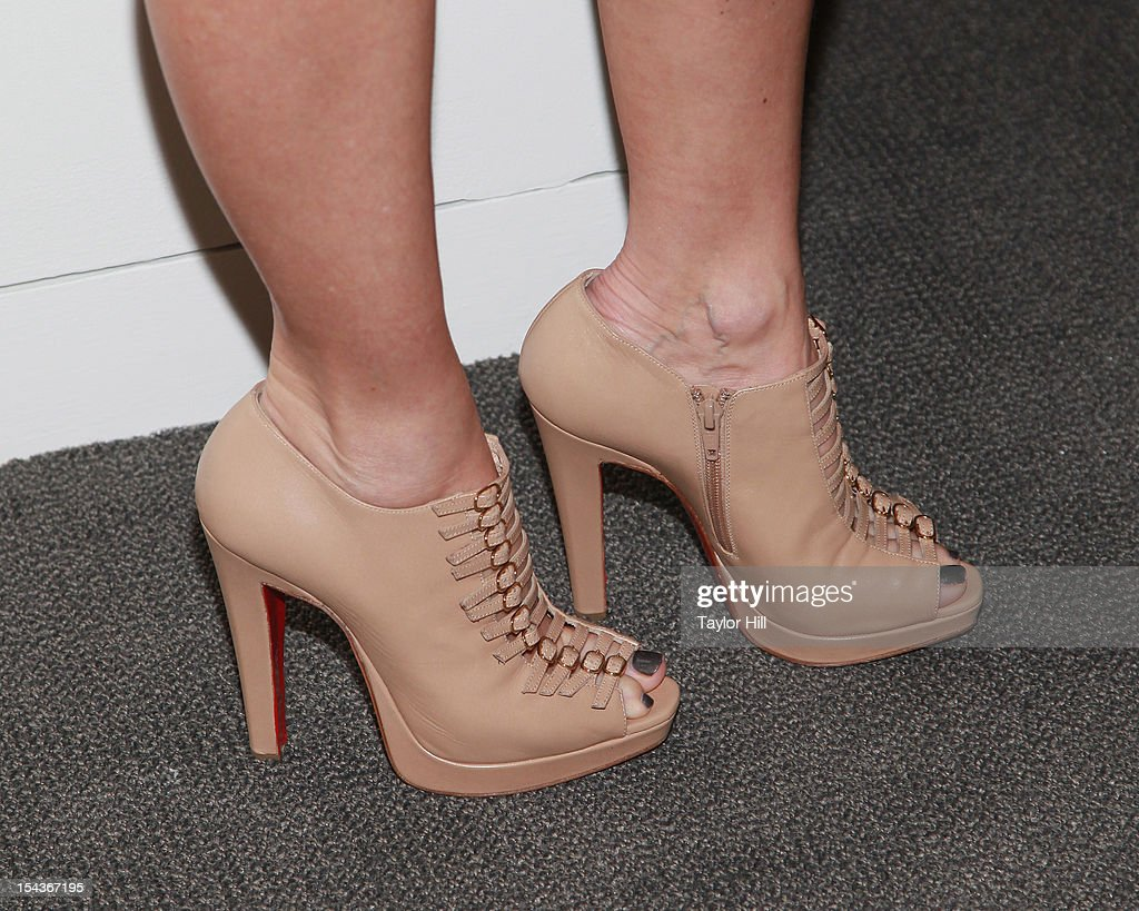 Actress Naomi Watts (shoe detail) attends the 2012 Take Home a Nude Benefit Art Auction at Sotheby's on October 18, 2012 in New York City.