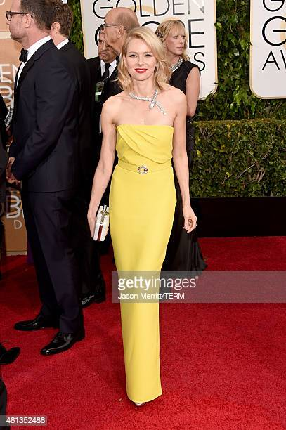 Actress Naomi Watts attends the 72nd Annual Golden Globe Awards at The Beverly Hilton Hotel on January 11 2015 in Beverly Hills California