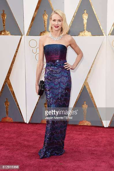 Actress Naomi Watts attends the 88th Annual Academy Awards at Hollywood Highland Center on February 28 2016 in Hollywood California