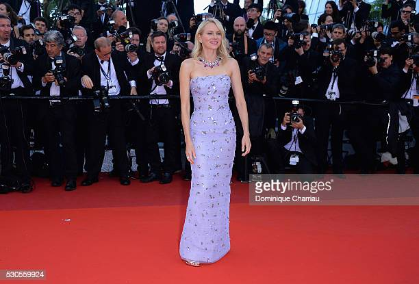 Actress Naomi Watts attends the 'Cafe Society' premiere and the Opening Night Gala during the 69th annual Cannes Film Festival at the Palais des...